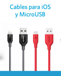 Cables para iOS y MicroUSB