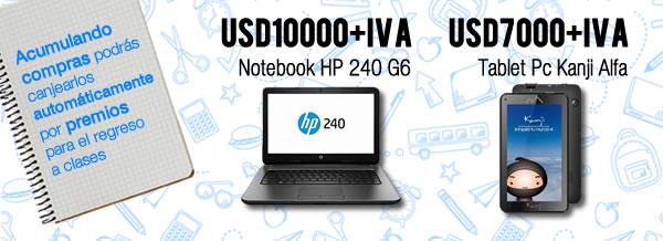 Primeros dos premios: Notebook y tablet