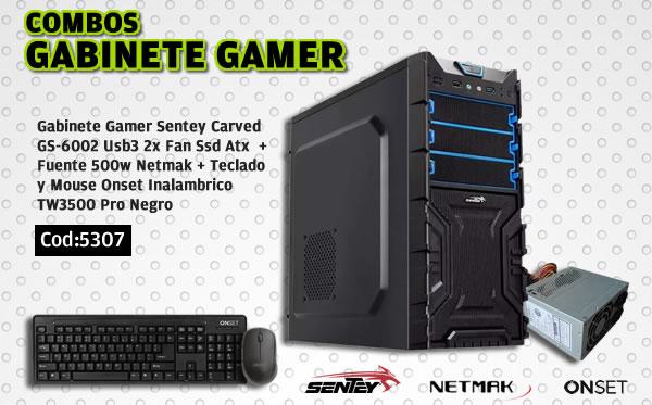 Combo Gabinete Gamer 1