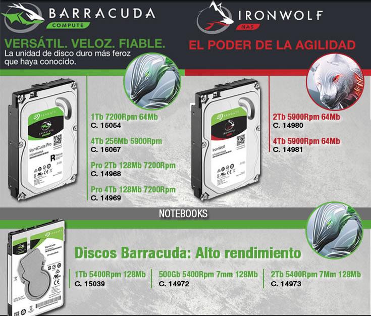 discos Barracuda y Ironwolf