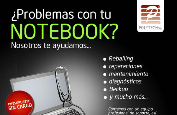 ¿Tenes problemas con la Notebook? Nosotros te lo solucionamos - Equipo profesional de soporte